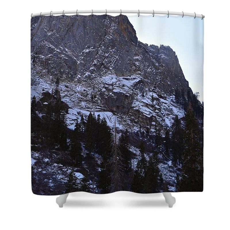 Altitude Shower Curtain featuring the photograph Tokopah Falls by Will Sylwester
