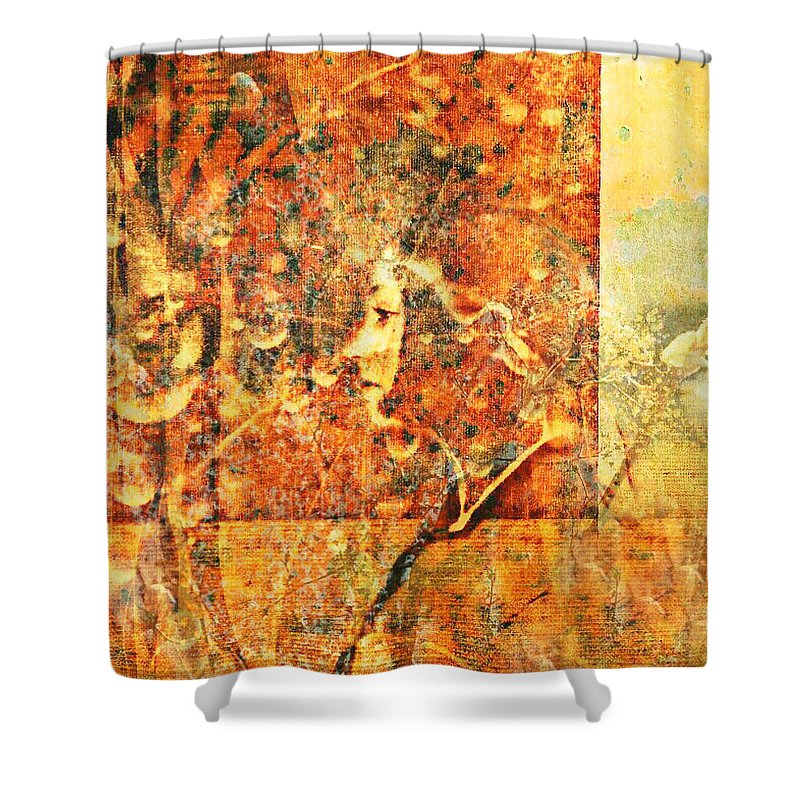 Figurative Shower Curtain featuring the digital art Traces by Aurora Art