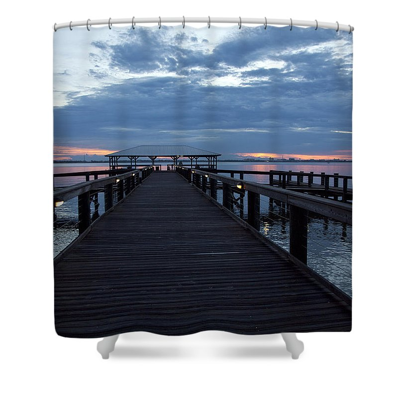 Twilight Shower Curtain featuring the photograph Tropic Twilight On The Indian River by Allan Hughes