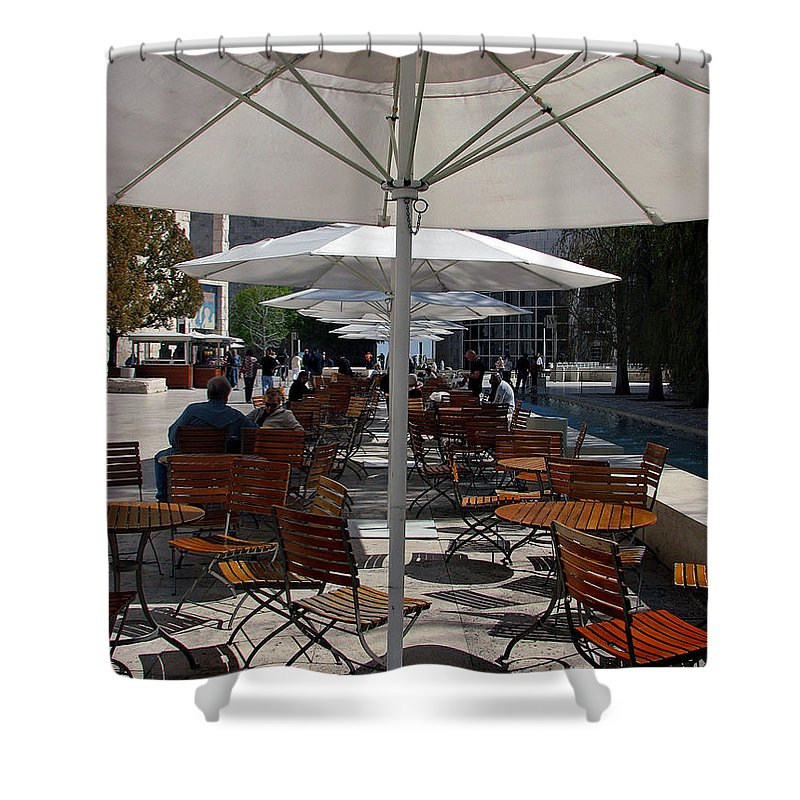 Umbrella's Shower Curtain featuring the photograph Umbrella's by Joanne Coyle