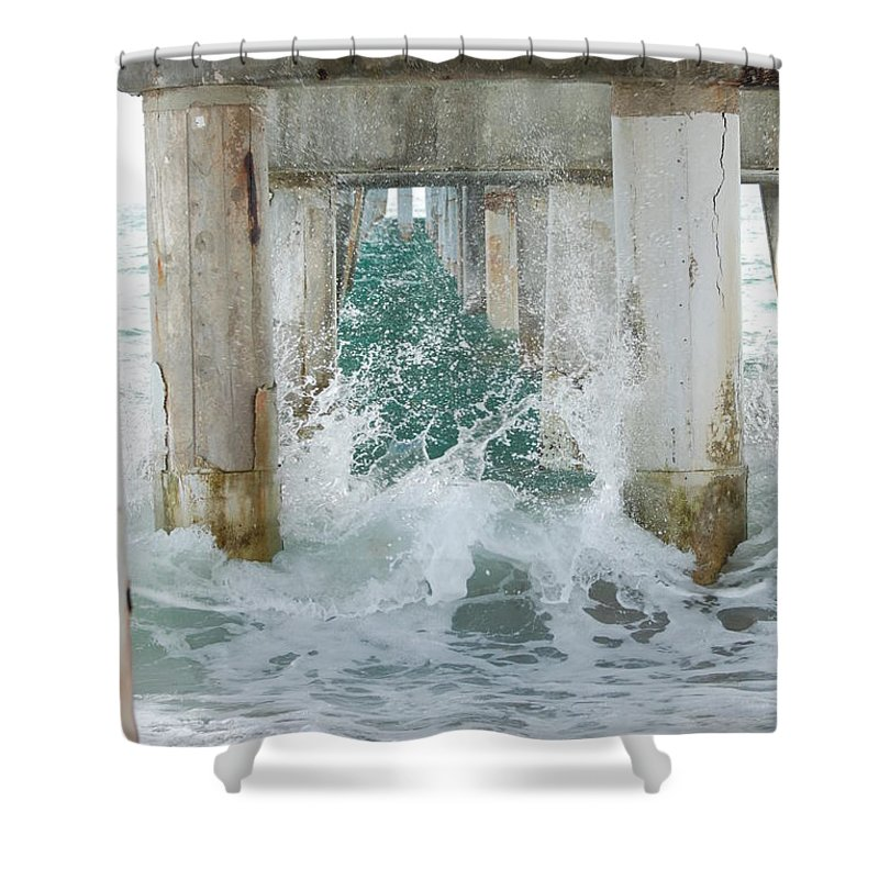 Ocean Shower Curtain featuring the photograph Under The Boardwalk by Rob Hans