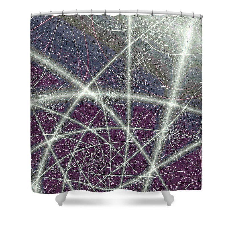 Fractals Shower Curtain featuring the digital art Universe by Dragica Micki Fortuna