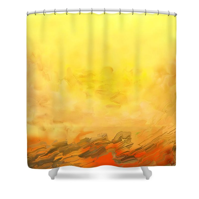 Digital Painting Shower Curtain featuring the digital art Untitled 02-06-10 by David Lane