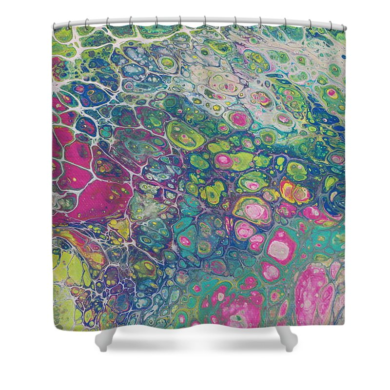 Shower Curtain featuring the painting Untitled by Shannon Fomby
