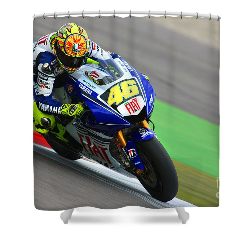 Netherlands Shower Curtain Featuring The Photograph Valentino Rossi By Henk Meijer Photography