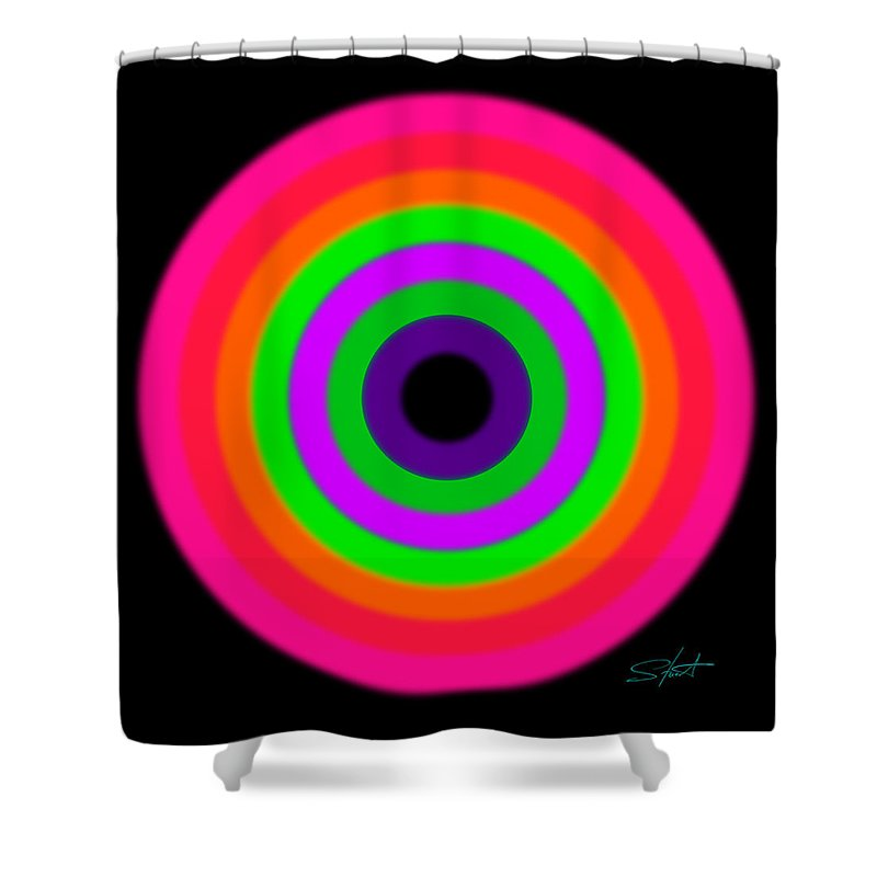 Rainbow Shower Curtain featuring the painting Violet by Charles Stuart