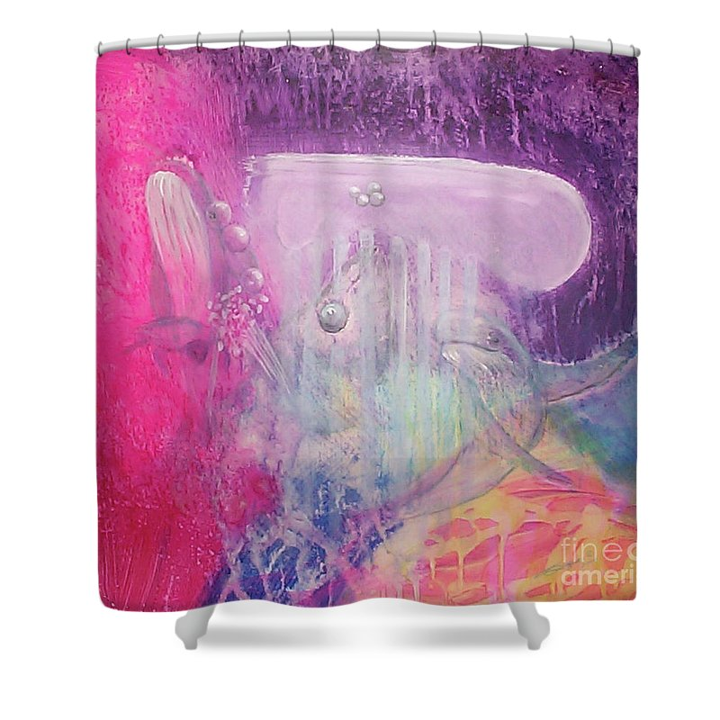 Fuqua - Artwork Shower Curtain featuring the painting Visions Of Atlantis by Beverly Fuqua