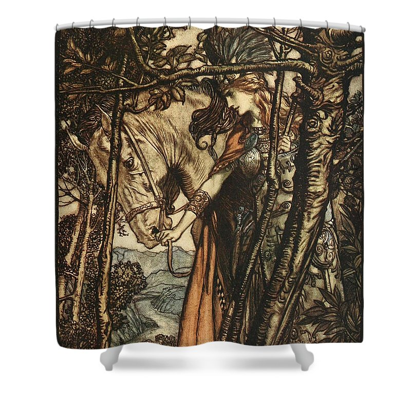 Wagner Ring Cycle The Valkyrie Shower Curtain