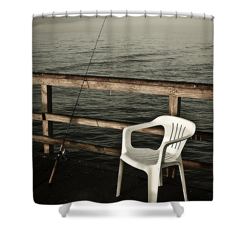 Fish Shower Curtain featuring the photograph Waiting by Marilyn Hunt