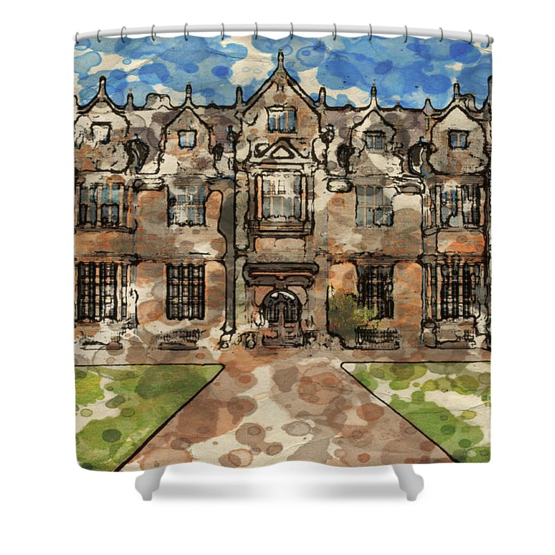 16th-century Shower Curtain featuring the digital art Wakehurst Place by Paul Stevens