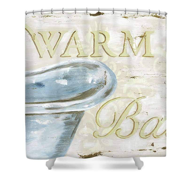 Bath Shower Curtain featuring the painting Warm Bath 2 by Debbie DeWitt