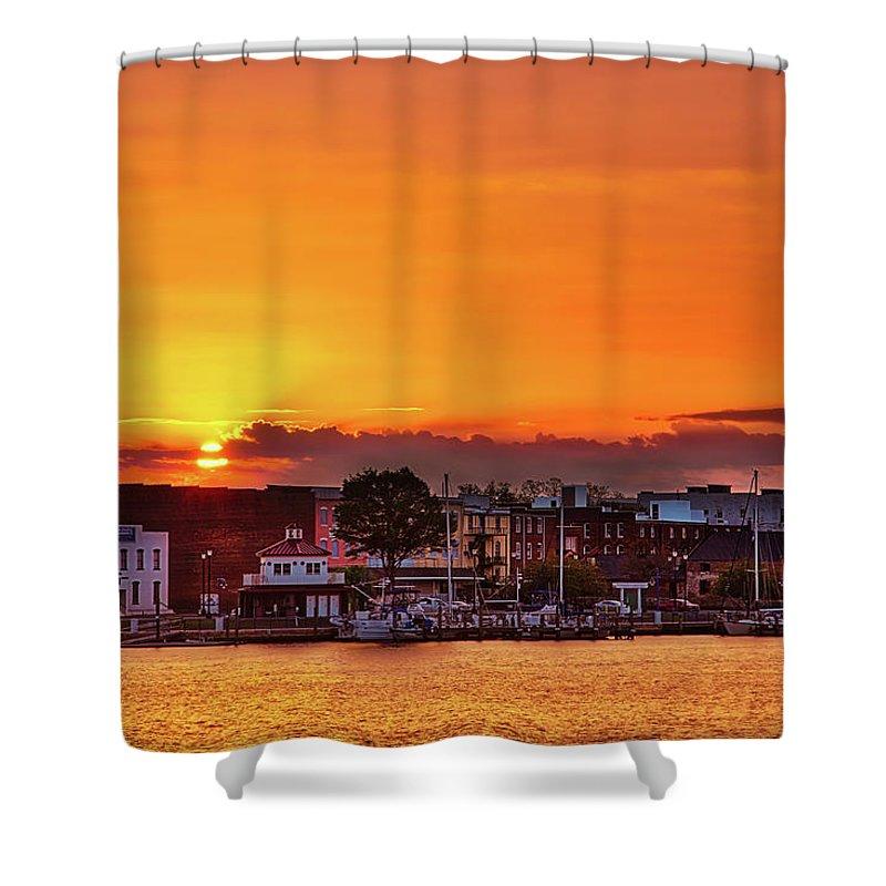 Washington Shower Curtain featuring the photograph Washington Sunrise by Robert Mullen