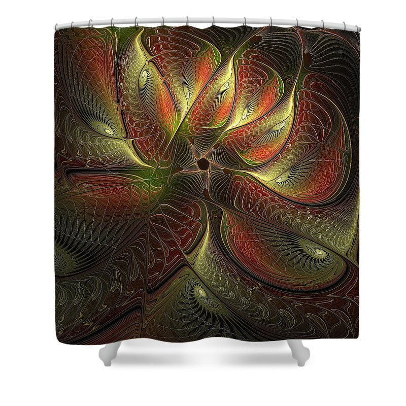 Digital Art Shower Curtain featuring the digital art Watchful by Amanda Moore