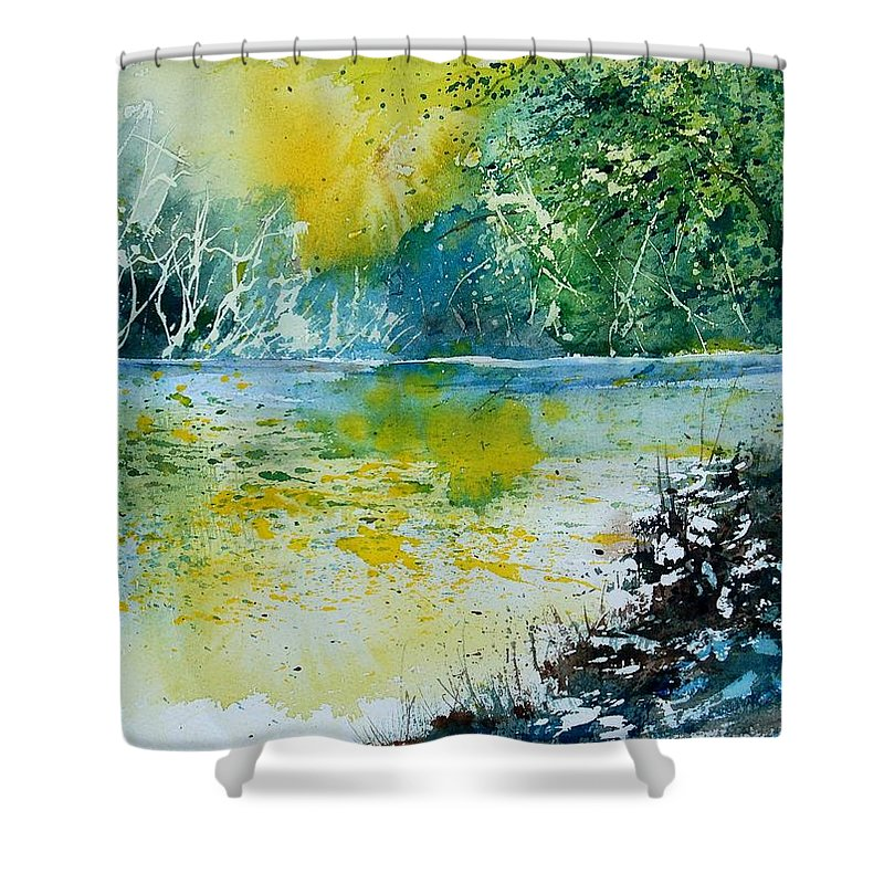 Water Shower Curtain featuring the painting Watercolor 051108 by Pol Ledent