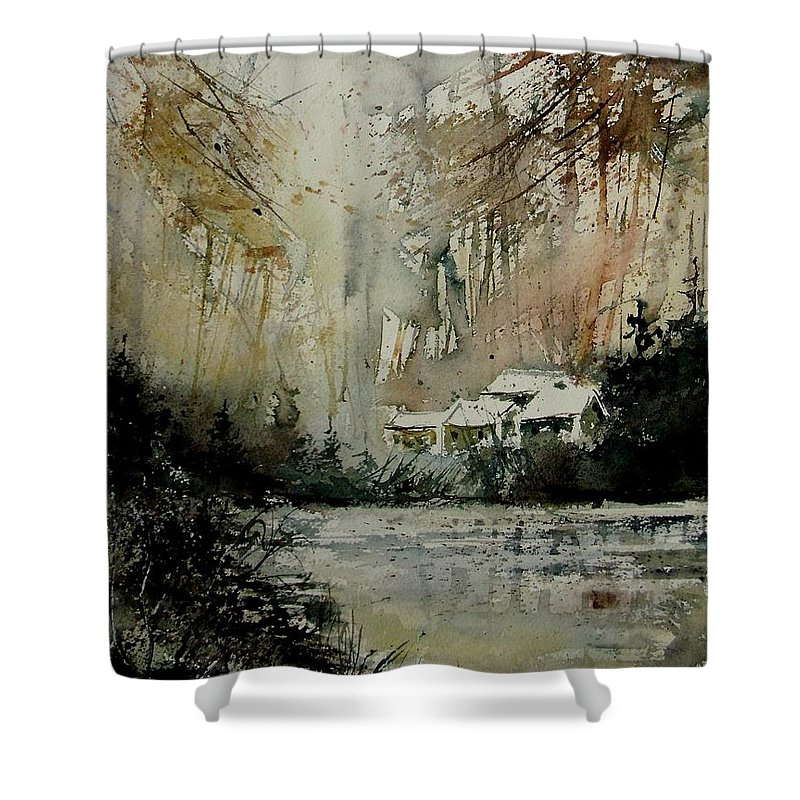 Water Shower Curtain featuring the painting Watercolor 070608 by Pol Ledent