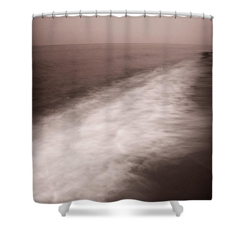 Abstract Shower Curtain featuring the photograph Wave Form by Steve Gadomski