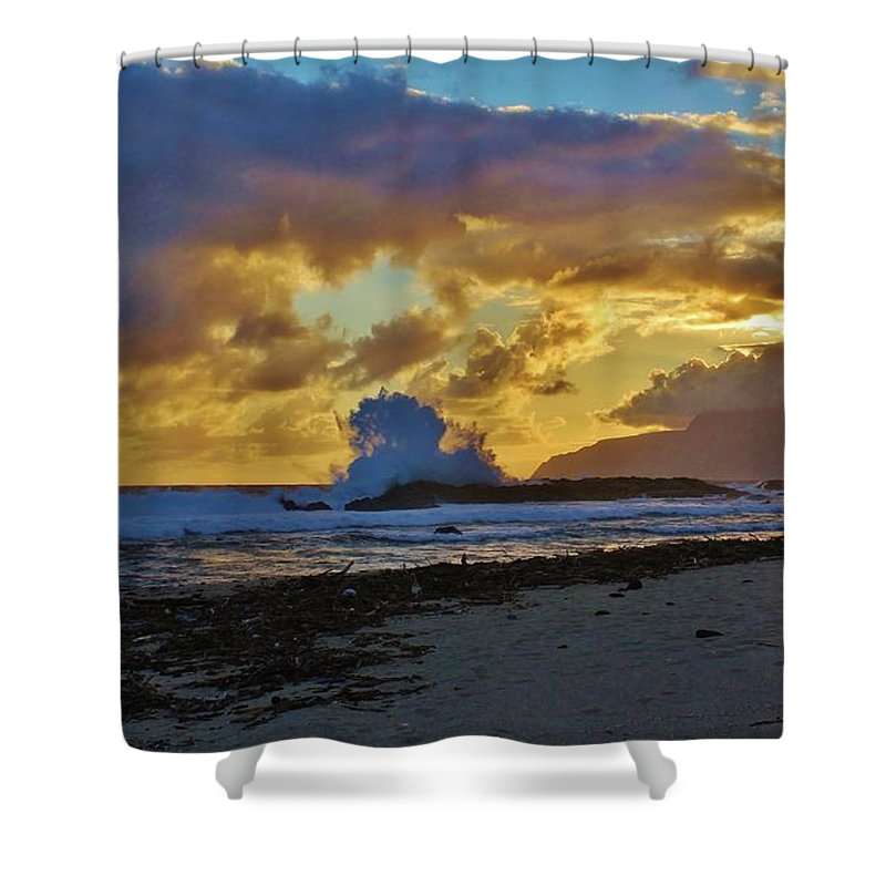 Sunrise Shower Curtain featuring the photograph Waves At Sunrise by Craig Wood