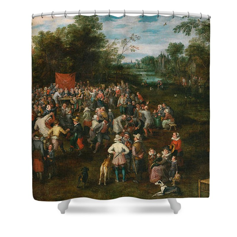Arts Shower Curtain featuring the painting Wedding Banquet by Jan Brueghel the Elder