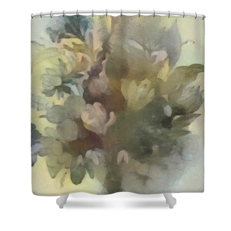 Flowers Shower Curtain featuring the digital art Whispering Bouquet 1 by Don Berg