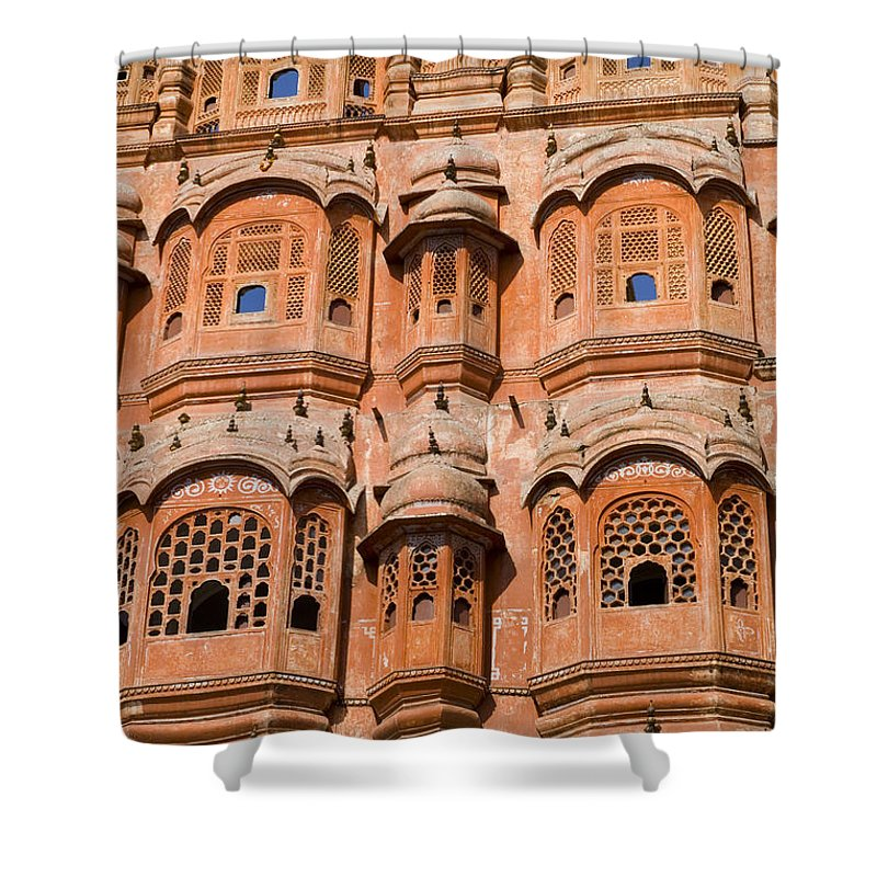 Architecture Shower Curtain featuring the photograph Wind Palace - Jaipur by Bill Bachmann - Printscapes