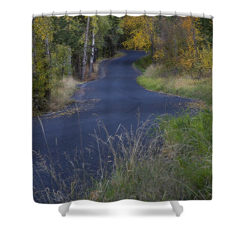 Idaho Shower Curtain featuring the photograph Winding Road by Idaho Scenic Images Linda Lantzy