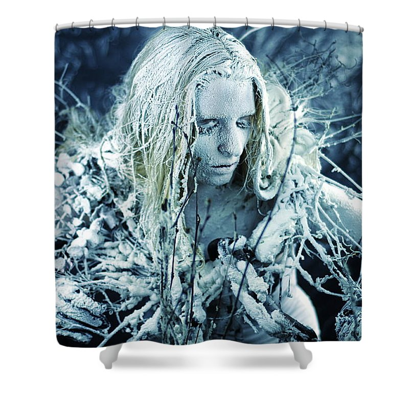 Fine Art Shower Curtain featuring the photograph Winter's Sorrow by Cliff Nixon