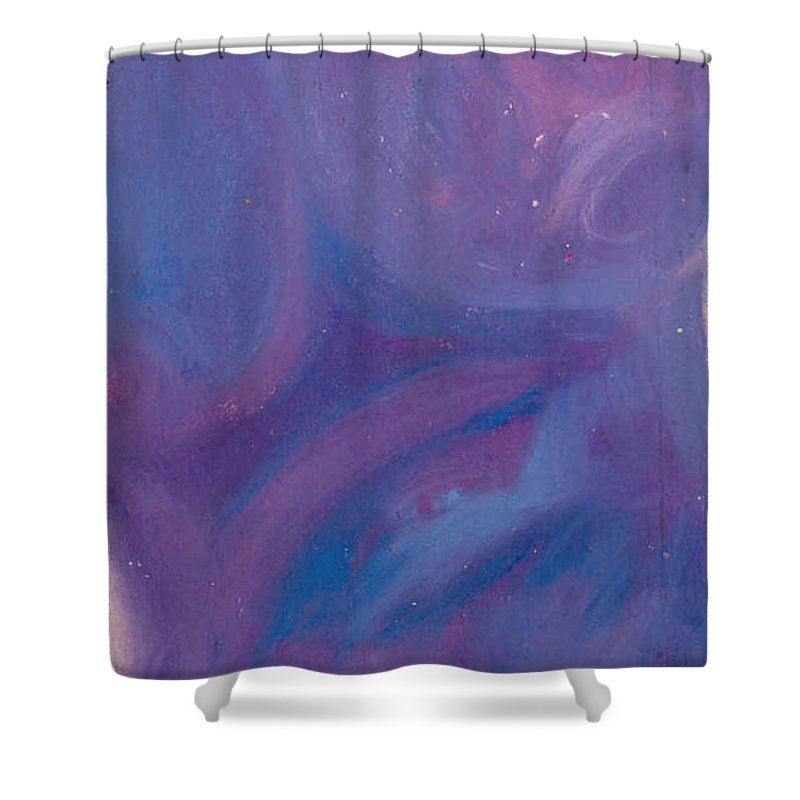 Shower Curtain featuring the pastel Without titel by Sitara Bruns