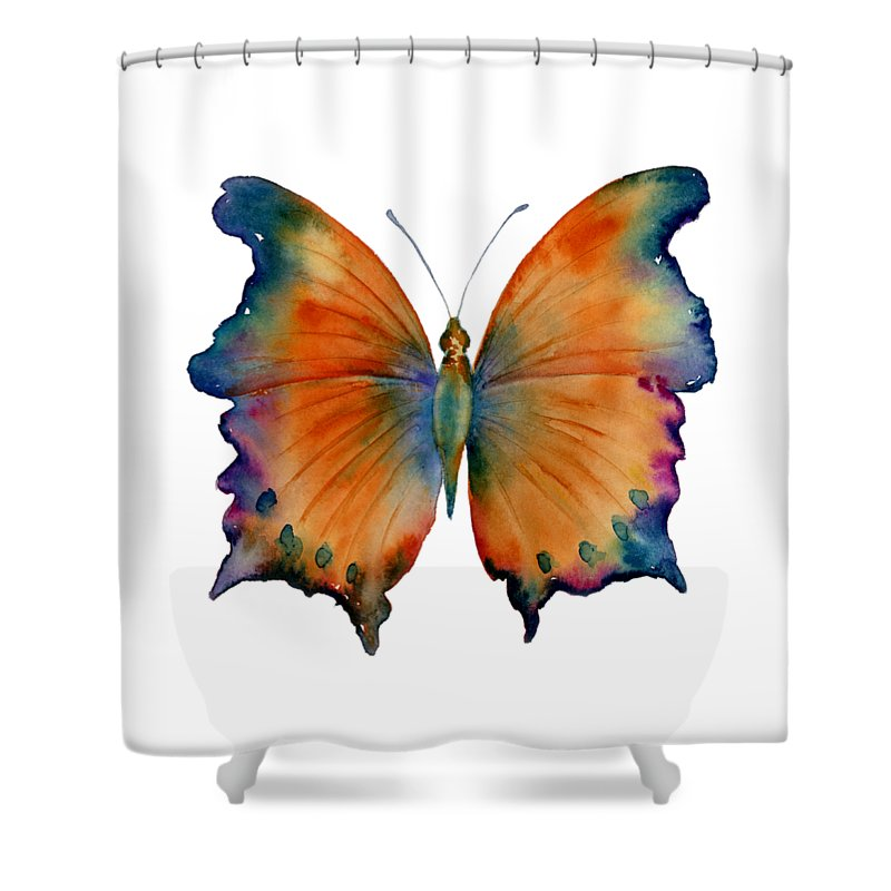 Wizard Butterfly Shower Curtain featuring the painting 1 Wizard Butterfly by Amy Kirkpatrick