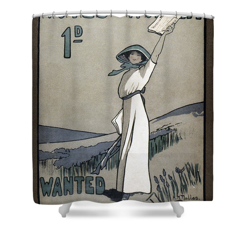 1907 Shower Curtain featuring the photograph Womens Rights by Granger