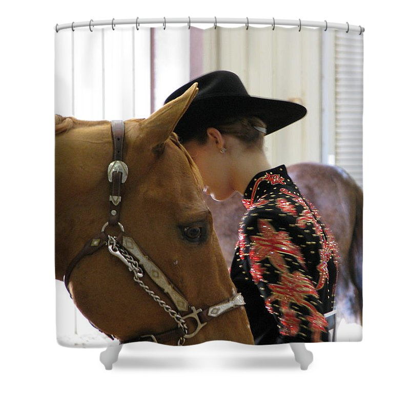 Patzer Shower Curtain featuring the photograph You Pray I Pray by Greg Patzer