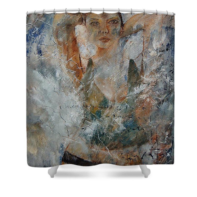 Girl Shower Curtain featuring the painting Young Girl 679080 by Pol Ledent