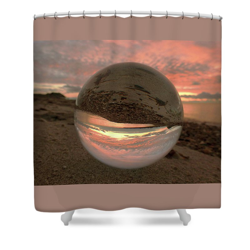 Don't Drop The Crystal Ball Shower Curtain featuring the photograph 10-27-16--1870 Don't Drop The Crystal Ball, Crystal Ball Photography by Vicki Hall
