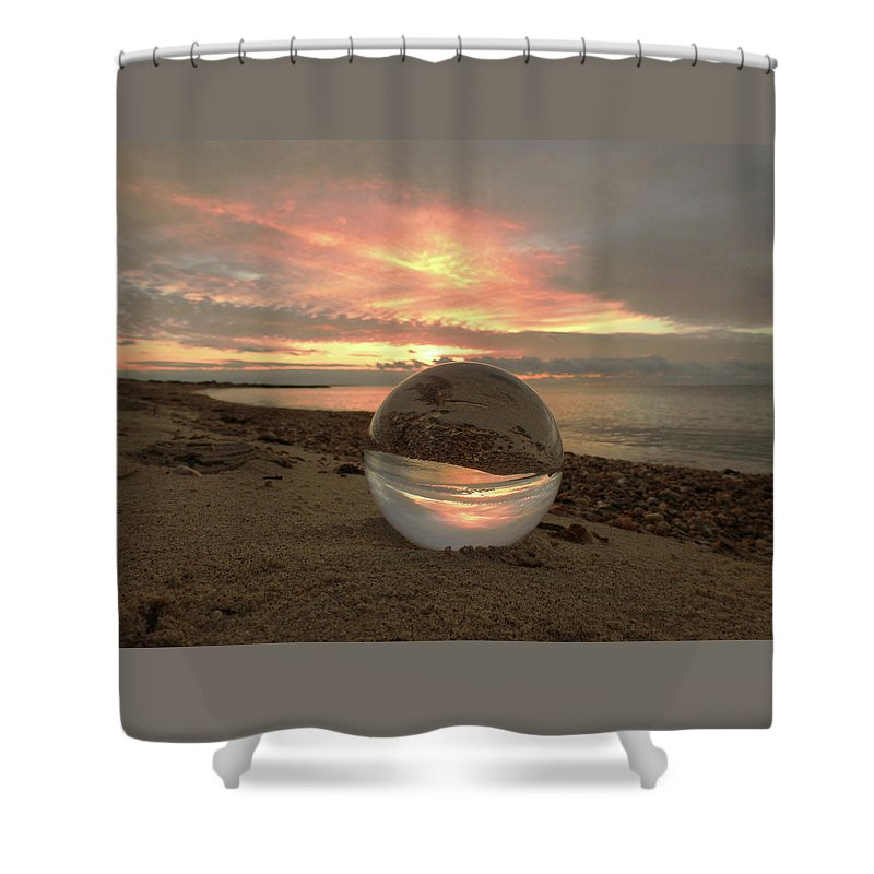Don't Drop The Crystal Ball Shower Curtain featuring the photograph 10-27-16--1918 Don't Drop The Crystal Ball, Crystal Ball Photography by Vicki Hall