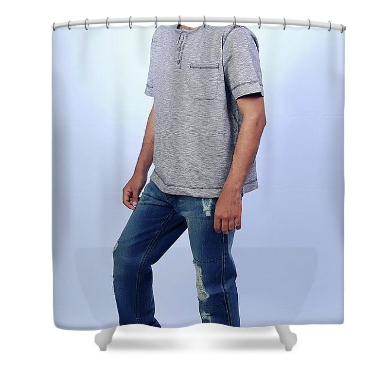 Shower Curtain featuring the pyrography ART by Naveed Abbas