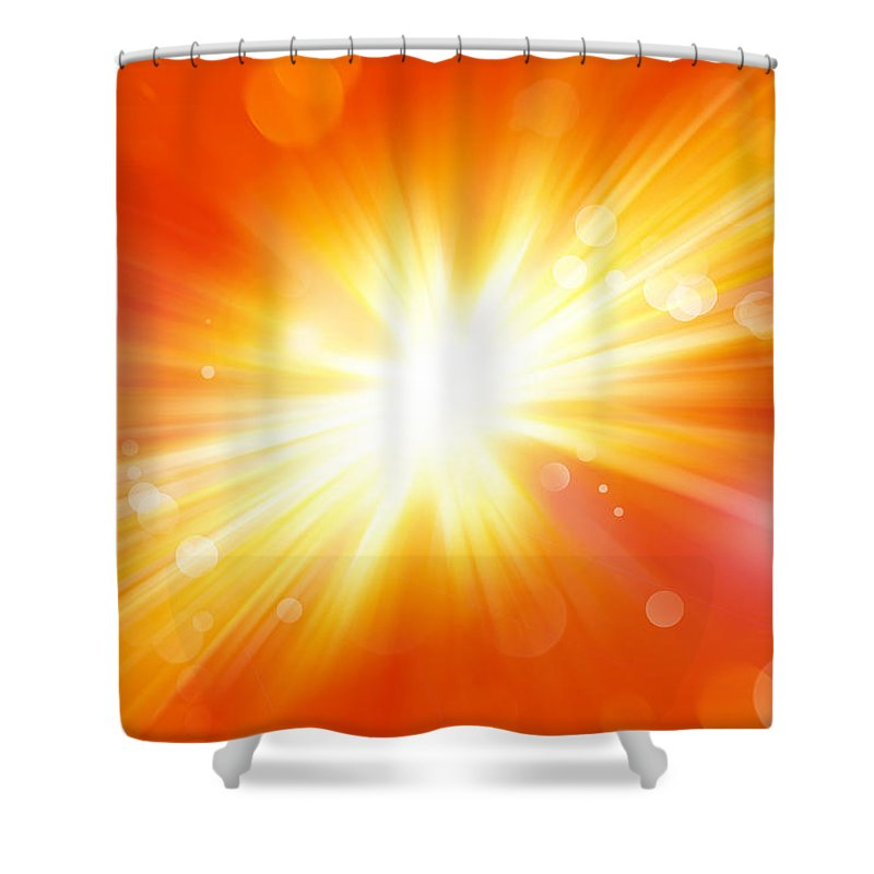 Big Bang Shower Curtain featuring the digital art Explosive Background by Les Cunliffe