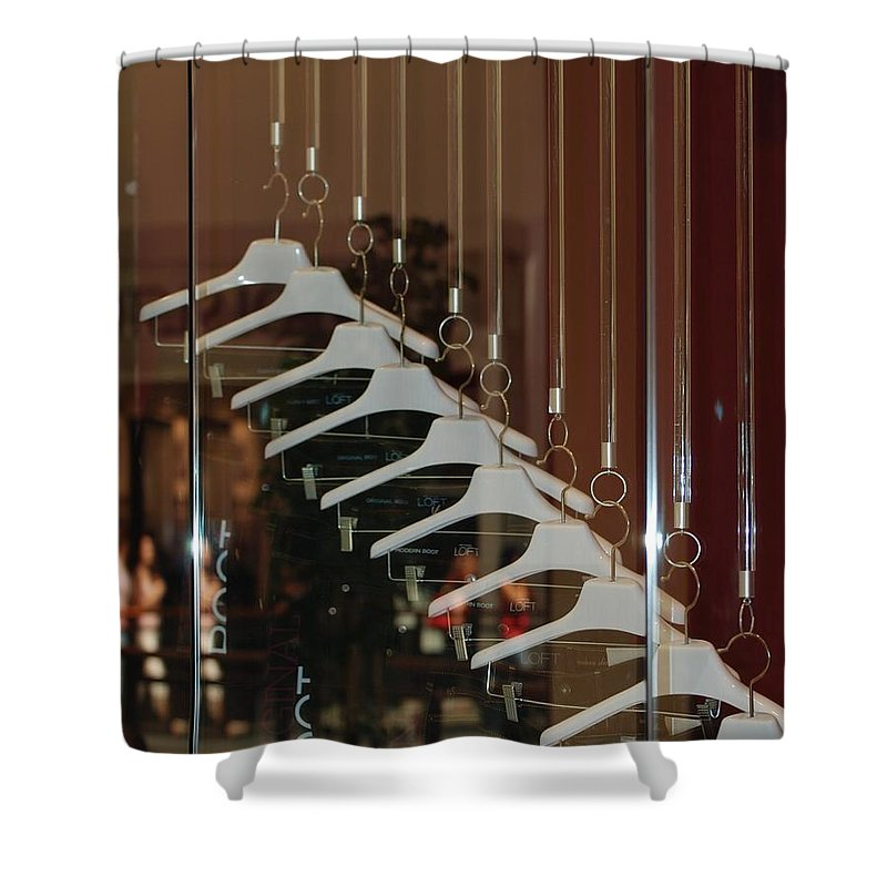 Hangers Shower Curtain featuring the photograph 10 Hangers by Rob Hans