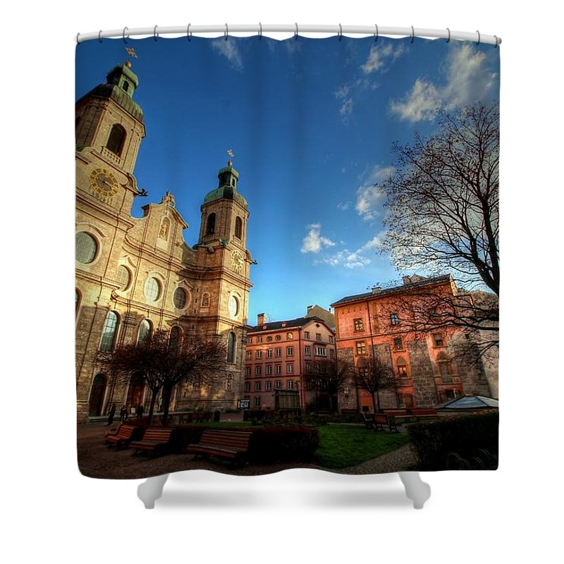 Innsbruck Austria Shower Curtain featuring the photograph Innsbruck Austria by Paul James Bannerman