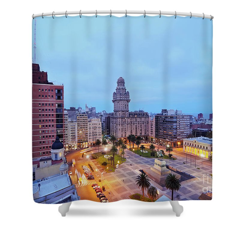 South America Shower Curtain featuring the photograph Montevideo, Uruguay by Karol Kozlowski