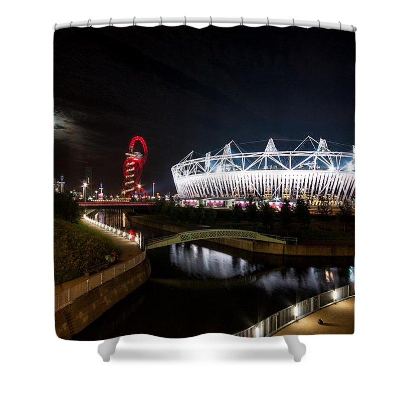 Dawn Oconnor Shower Curtain featuring the photograph Olympic Park by Dawn OConnor