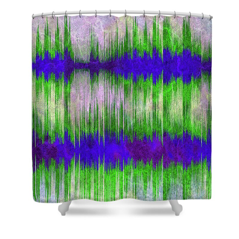 Eleanor Shower Curtain featuring the digital art 10184 Eleanor Rigby By The Beatles With Title by Colin Hunt