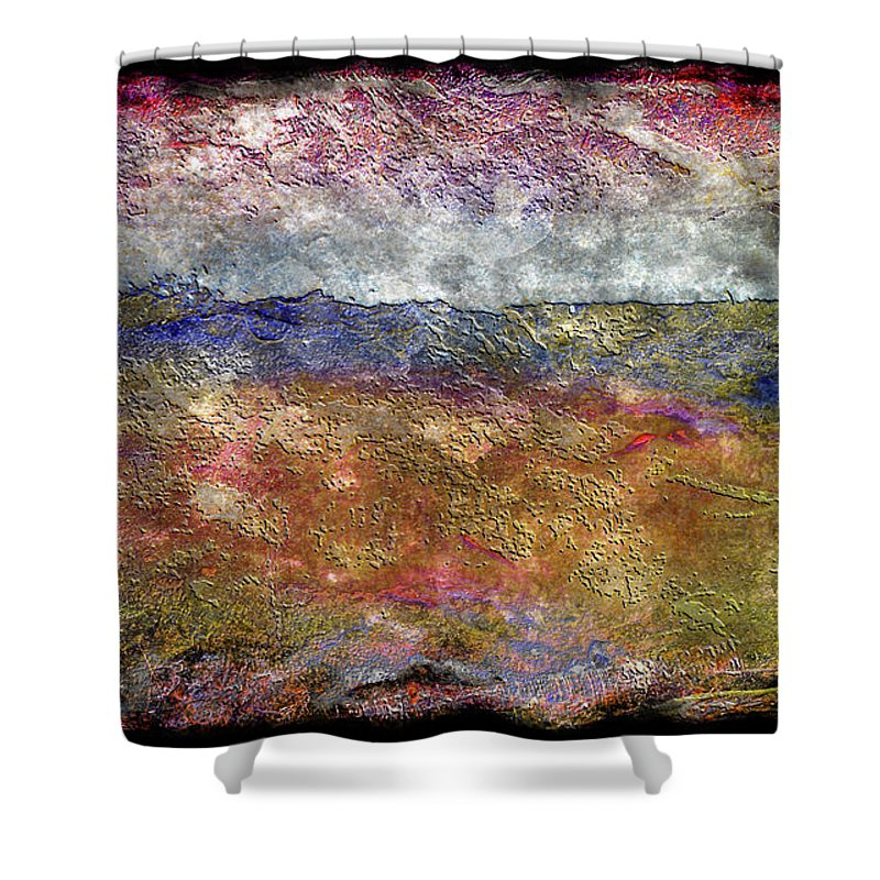 Abstract Shower Curtain featuring the painting 10c Abstract Expressionism Digital Painting by Ricardos Creations