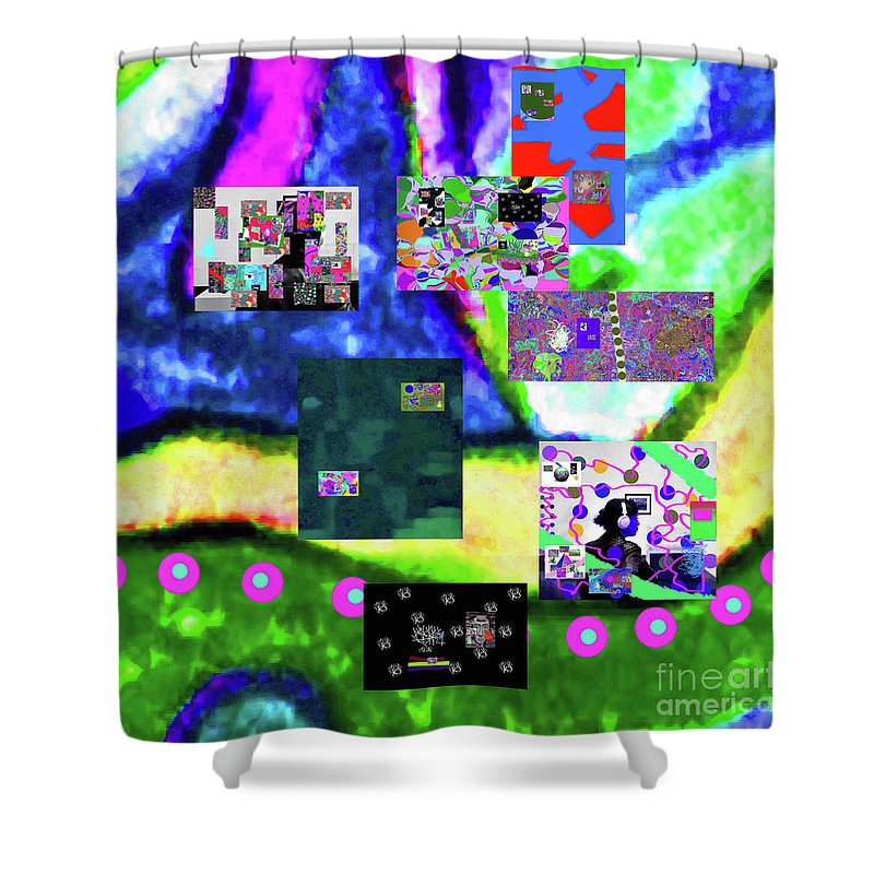 Walter Paul Bebirian Shower Curtain featuring the digital art 11-11-2015abcdefghijklmnopqrtuvwxyzabcdef by Walter Paul Bebirian
