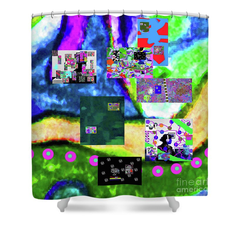 Walter Paul Bebirian Shower Curtain featuring the digital art 11-11-2015abcdefghijklmnopqrtuvwxyzabcdefg by Walter Paul Bebirian