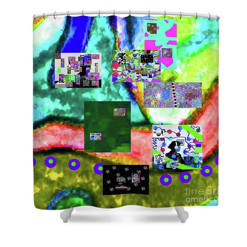 Walter Paul Bebirian Shower Curtain featuring the digital art 11-11-2015abcdefghijklmnopqrtuvwxyzabcdefghijk by Walter Paul Bebirian