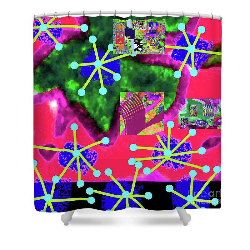 Walter Paul Bebirian Shower Curtain featuring the digital art 11-11-2015d by Walter Paul Bebirian