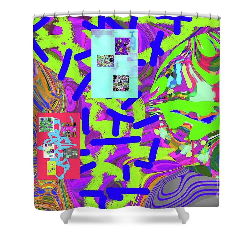 Walter Paul Bebirian Shower Curtain featuring the digital art 11-15-2015abc by Walter Paul Bebirian