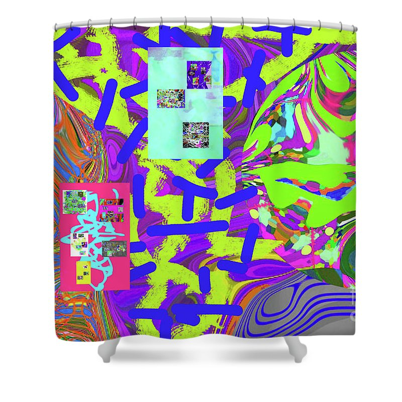 Walter Paul Bebirian Shower Curtain featuring the digital art 11-15-2015abcd by Walter Paul Bebirian