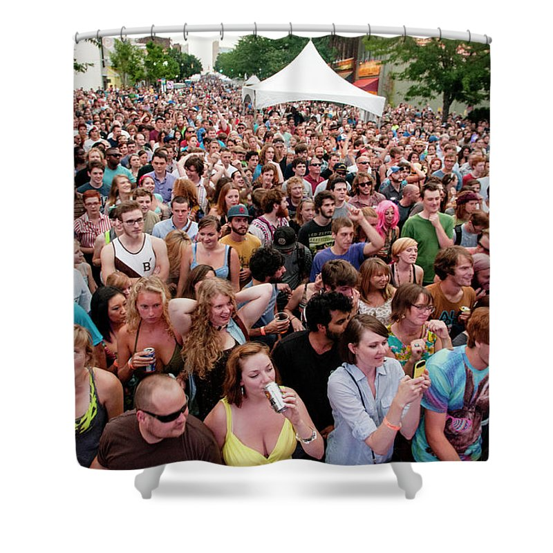 Asheville Shower Curtain featuring the photograph Bele Chere Festival by David Oppenheimer