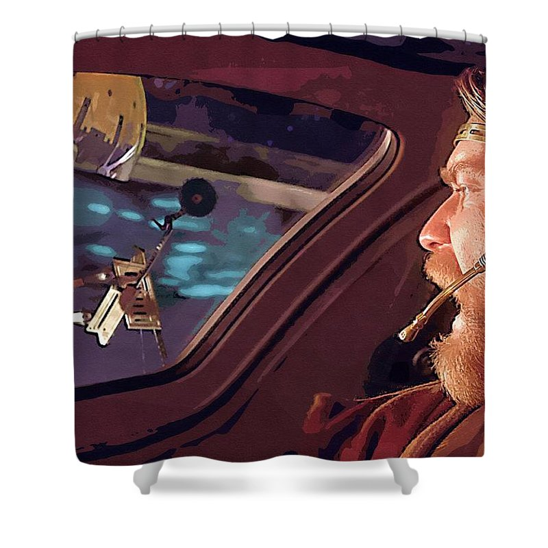 Star Wars Clone Trooper Shower Curtain featuring the digital art Movie Star Wars Poster by Larry Jones