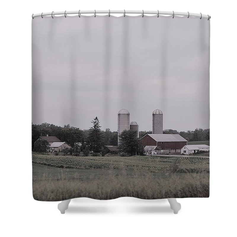 Shower Curtain featuring the photograph 1111 by John Bichler
